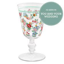 Vaisselle Shabby Chic Highgate Rose Wine Glass Dining Range Cathkidston Country