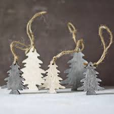 wooden trees hanging christmas tree decorations by the wedding of