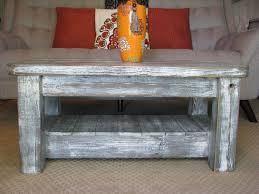 Coffee Table Rounded Edges Rustic Coffee Table With Shelf In Weathered Grey Choose From