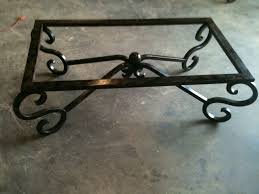 decor wrought iron table legs for cool furniture decor ideas