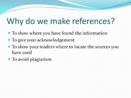 how to write a reference list what is referencing a standard