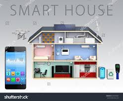 smart phone home energy management apps stock illustration