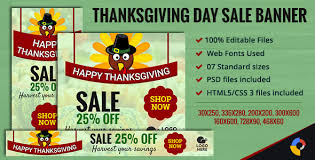 gwd thanksgiving day sale ad banners 7 sizes by themesloud