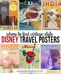 Travel Posters images Where to find vintage style disney posters persia lou png