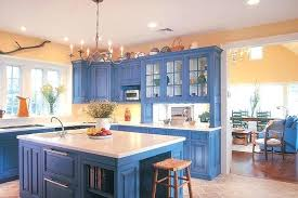 blue color kitchen cabinets blue painted cabinets movesapp co