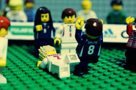 vauxhall lego football gallery david beckham u0027s career recreated in lego