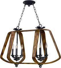 Wood Iron Chandelier Maxim 20927bwio Road House Barn Wood Iron Ore Chandelier Light
