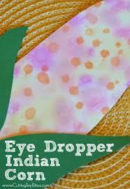 eye dropper indian corn motor skills thanksgiving and eye