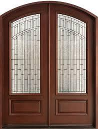 front door modern double exterior doors front entry wrought iron woodgrain