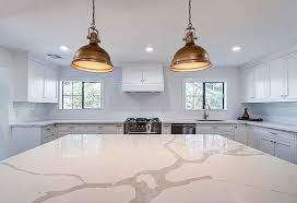 white kitchen cabinets with gold countertops calacatta quartz countertops design guide designing idea
