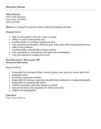 exles of resumes for restaurant dishwasher resume exle http topresume info dishwasher