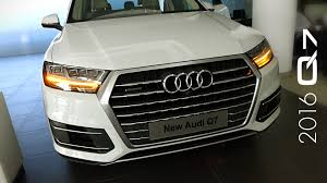audi suv q7 interior 2016 audi q7 interior and exterior tour youtube