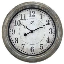 silver chrome wall clocks you ll wayfair
