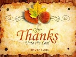a thankful thanksgiving in jesus our saviour evangelical