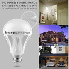outdoor garage light bulbs motion sensor light bulb radar motion activated led bulb dusk to