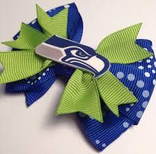 seahawk ribbon seahawks hair bows seattle seahawks football hair bow 3 blue