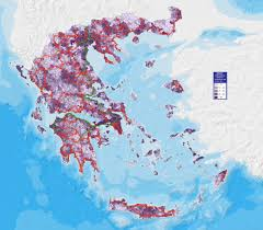 Greek Map Greece Population Density Map Greece U2022 Mappery
