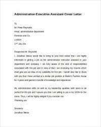administrative assistant cover letter executive assistant cover letter musiccityspiritsandcocktail