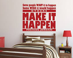 Wall Decal Quotes For Bedroom by Jordan Wall Decal Etsy