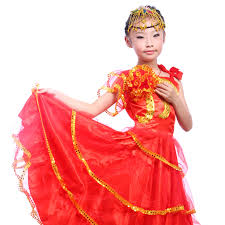 Halloween Costumes Spanish Dancer Cheap Kids Flamenco Costume Kids Flamenco Costume Deals