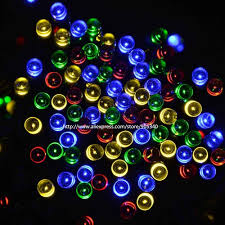 Outdoor Colored Christmas Lights by Aliexpress Com Buy Solar Christmas Led String Lights Solar