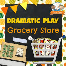 dramatic play grocery store pre k pages