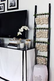 Christmas Decorating Ideas Black Brown & White Living Room