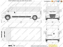 Dodge Ram Cargo Van - the blueprints com vector drawing ram promaster cargo van lwb
