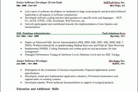 Ssis Developer Resume Sample by Jr Sql Server Resume Reentrycorps
