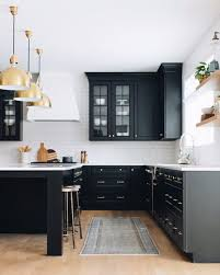 black shaker style kitchen cabinets design inspo beautiful black kitchens style curator