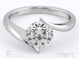 tension engagement rings 107 twist solitaire tension engagement ring cape diamonds