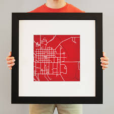 Miami University Campus Map by Miami University Oxford Ohio Campus Map Art City Prints