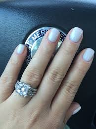 french manicure gel 2 coats of funny bunny opi 1 coat of bubble