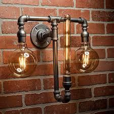 Steunk Light Fixtures Pipe Light Lighting Pipe Sconce Light Steunk Lighting