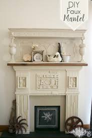 diy faux mantel country design style