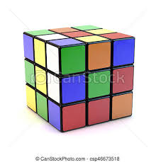 rubik s rubik s cube famous rubik s cube with mixed colors over clipart