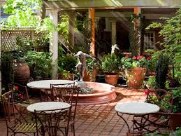 mediterranean garden patio amber freda hgtv