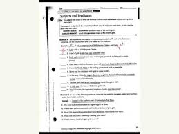 complete subject and predicate worksheet 2 youtube
