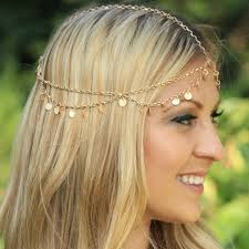 forehead bands 2015 new fashion gold chain pieces women boho headpiece