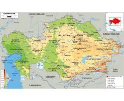 Aral Sea Map Maps Of Kazakhstan Detailed Map Of Kazakhstan In English