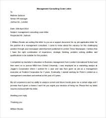 cover letter for management consulting cover letter consulting