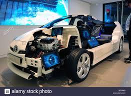toyota car showroom paris france shopping in new car showroom toyota car prius stock