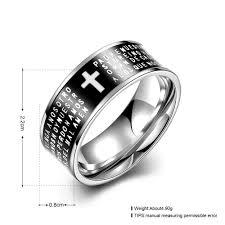 mens black rings wholesale trendy stainless steel letter black ring for men sstr074