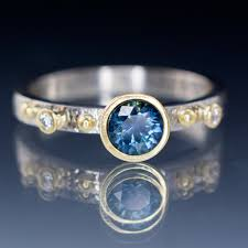 sapphire accent engagement rings engagement ring montana sapphire gold accents