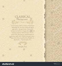 Background Invitation Card Invitation Card Classical Background Stock Vector 259171637