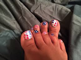 toenail art patriotic toenails july 4th red white and blue