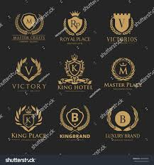 crests logo set luxury logo brand stock vector 402092896