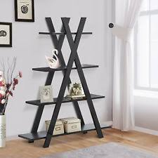 Staggered Bookshelves by Homcom 61 Modern Standing Dna Staggered Shelf Storage Display
