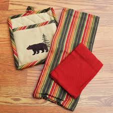 bear kitchen towels u0026 placemats cabin place