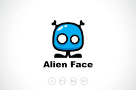 alien face logo template logo templates creative market